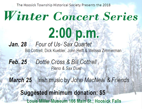 Hoosick Township Historical Society Winter Concert Series